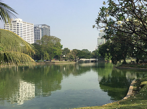 lakes in Lumpini Park